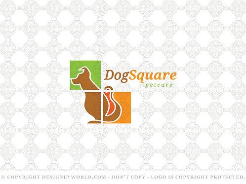 Dog Square Logo