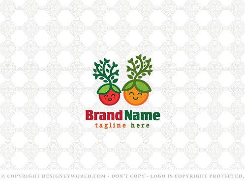 Happy Fresh Seeds Tree Logo