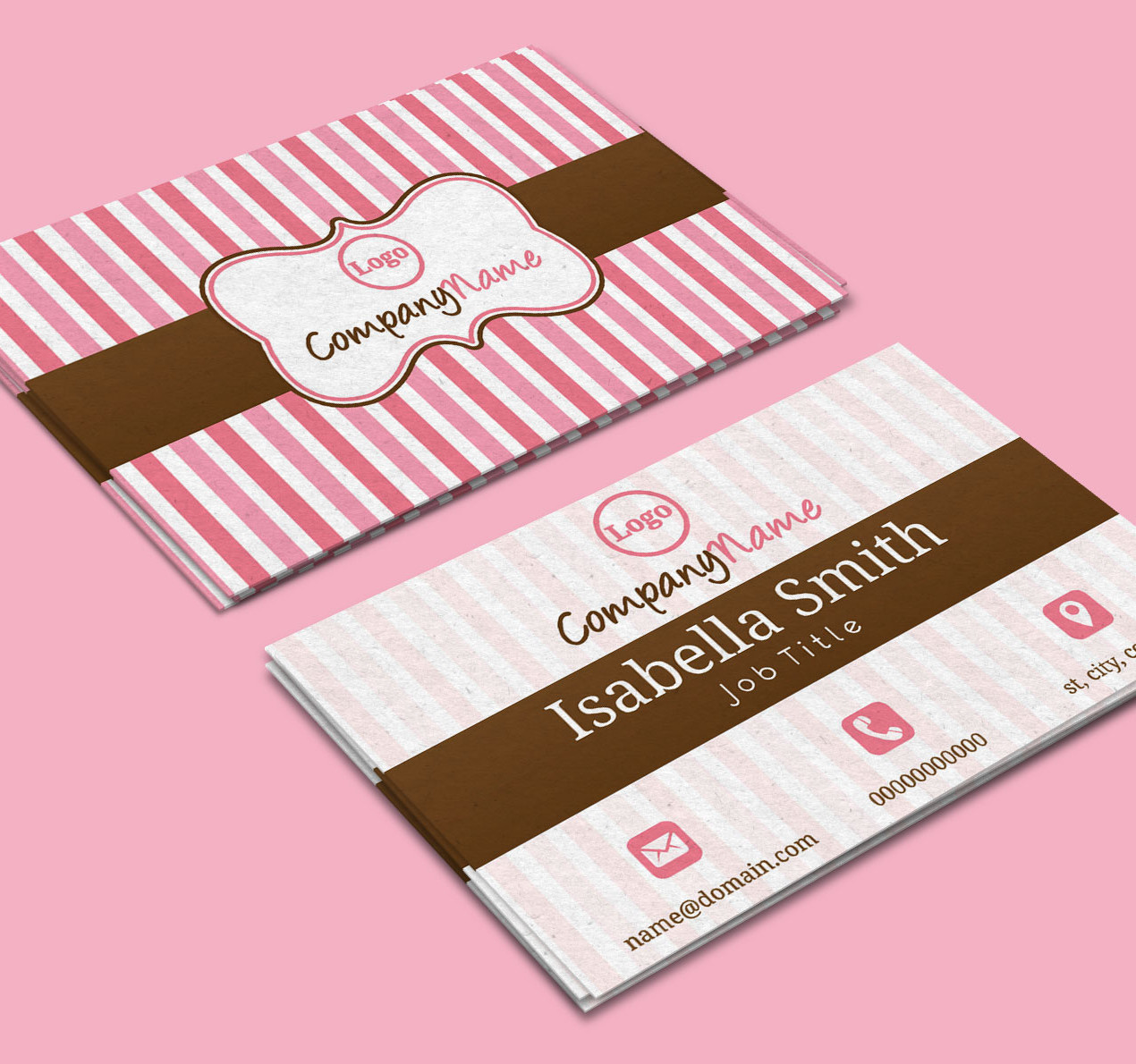 business, business card, business card design, free card, free business card, free business card design, minimalist business card, branding, branding identity, stationery design, cards, card design, business brand, online business card, online business cards, cupcakes, cupcake, baker, bakery, dessert, confectionery, sweets, pink
