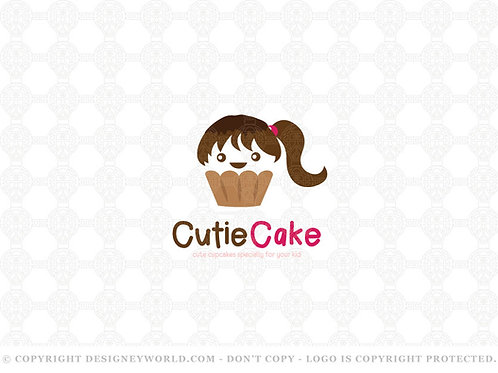 Cute Cupcake Logo