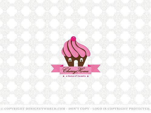 Cherry Home Cupcake Logo