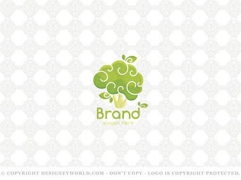 Broccoli Brain Healthy Mind Logo