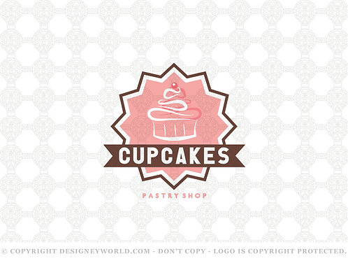 Cupcakes Pastry Shop Logo