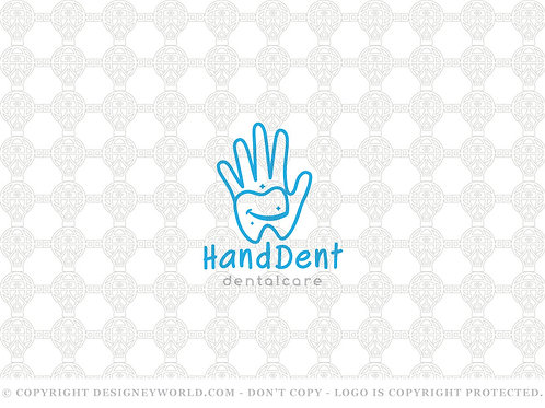 Hand Dental Care and Smile Logo