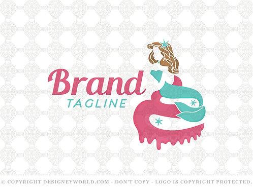 Mermaid Cupcake Logo