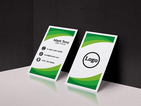 Ophthalmologist Vertical Eye Business Card Design