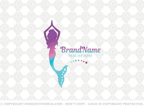 Mermaid Yoga Logo