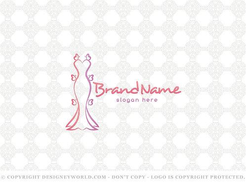 Butterflies Fashion Logo