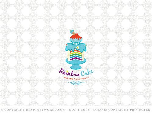 Rainbow Cake Logo