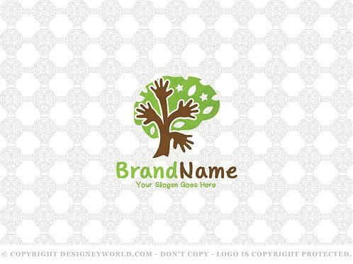 Hands Tree Mind Care Logo