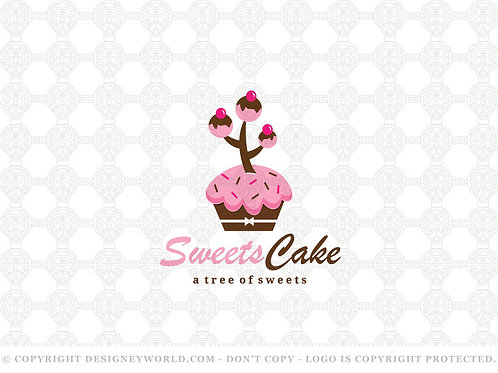 Sweets Cupcake Tree Logo