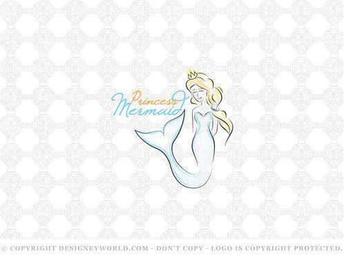 Princess Mermaid Logo