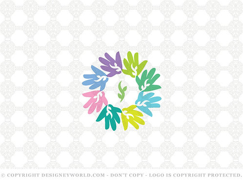 Kids Care Hands Logo