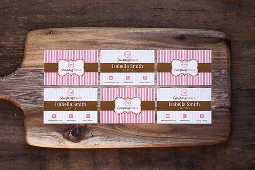Pink Bakery Cupcake Business Card Design