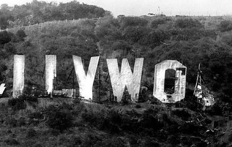 Demoliram os letreiros de Hollywood