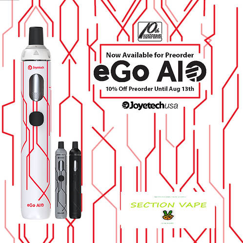 """Kit ego aio 10 th anniversary blanche / rouge + 1 kit liquide """"diy"""""""