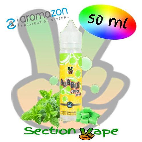 E liquide Bubble Juice menthe Aromazon, 50ml,