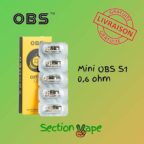 Résistances cube mini obs S1 , 0.6 ohm