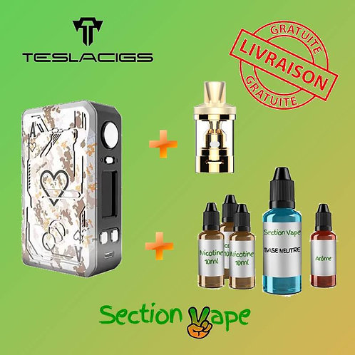 Kit Teslacigs poker 218 blanc + v-tank 7ml + 1 Kit DIY