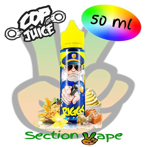 E liquide Cop Juice, Riggs, saveur Pop corn Caramel 50ml