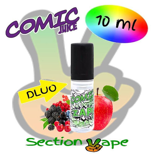E liquide 2 x 10ml Comic Juice Zap pomme fruits rouges 0mg