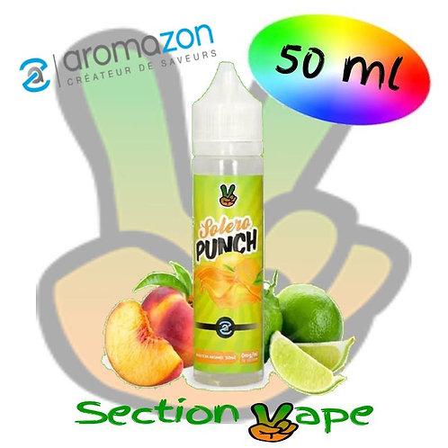 E liquide Solero punch, Pêche / citron vert, Aromazon, 50ml,