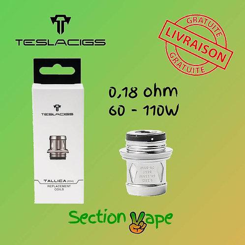 4 résistances Teslacigs TS-XX 0.18 ohm