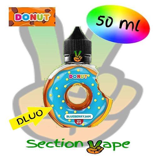E liquide donut Blueberry Jam 50ml, 0mg