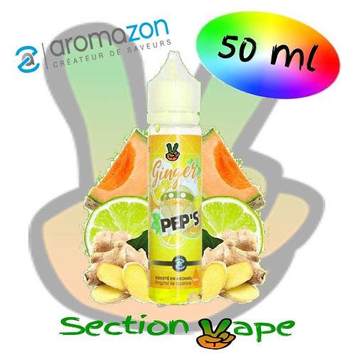 E liquide Ginger pep's, melon / agrumes Aromazon, 50ml,