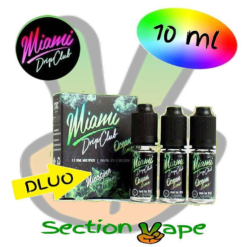 E liquide 3 x 10ml Miami ocean lime, saveur citron frais, 3mg