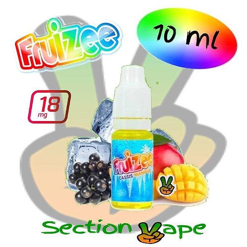 Booster 18mg, 10ml Fruizee cassis / mangue