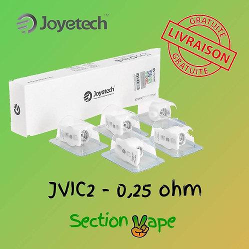 5 résistances JVIC2,  0.25 pour joyetech penguin