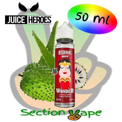 E liquide 50ml Liquideo Juice Heroes WondeR, 0mg