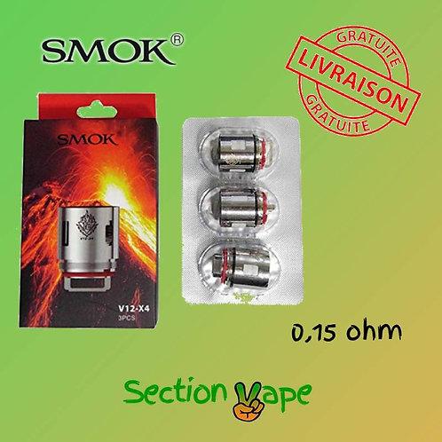3 résistances Smok V12 x4 0.15 ohm