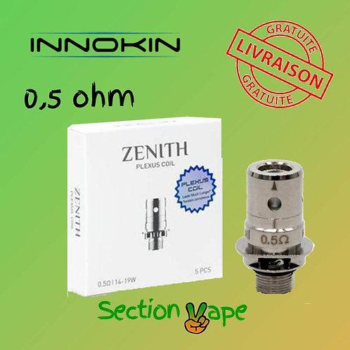 5 résistances pour innokin zenith Plexus 0.5 ohm