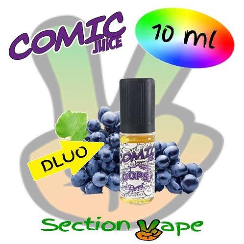 E liquide 2 x 10ml Comic Juice Oops raisin 0mg