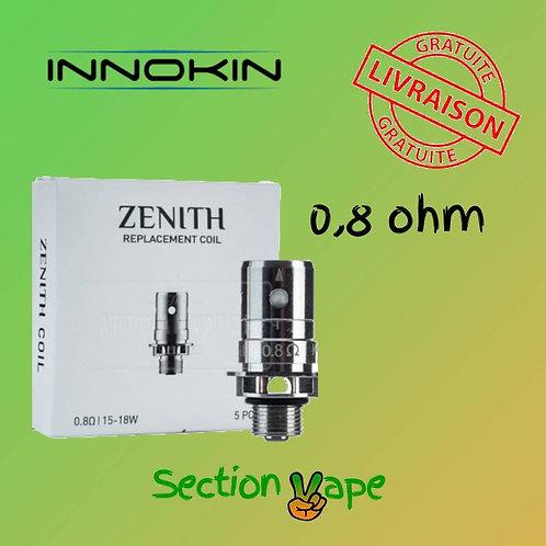 5 résistances pour innokin zenith 0.8ohm