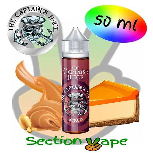 E liquide Captain's Juice, Scrum, Cheese Cake,  Beurre de cacahuète 50ml,