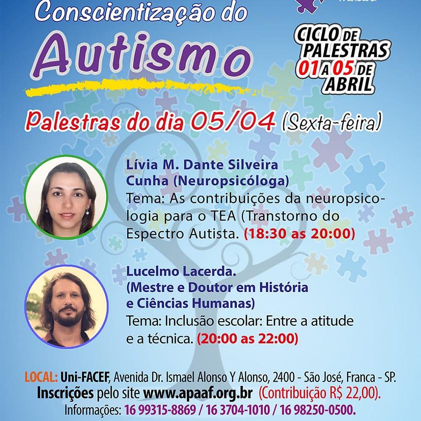 Semana de conscientização do Autismo - Palestras 05/04/2019