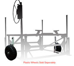 Smarte Jack with wheel installed on boat lift