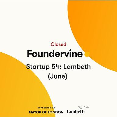 Startup 54: Lambeth (June 2020)