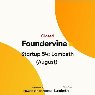Startup 54: Lambeth (August 2020)