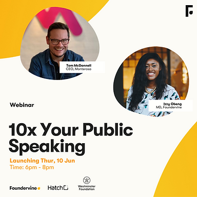 FORWARD: How To: 10x Your Public Speaking