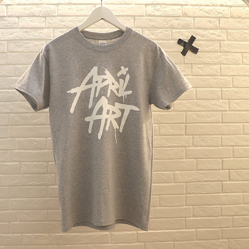 April Art - Pure Logo - White on Grey - Unisex