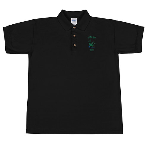 Silage Spec Embroidered Polo Shirt