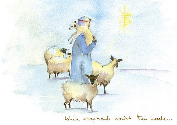 While shepherds watching their flocks (s)