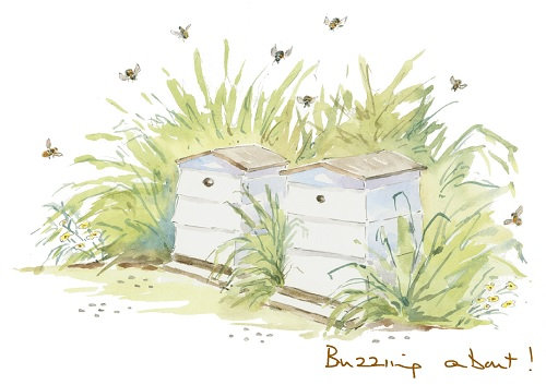 Buzzing about! Print