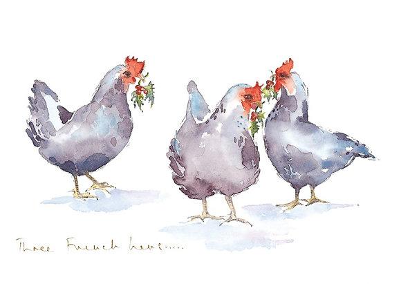 Three French hens (s)