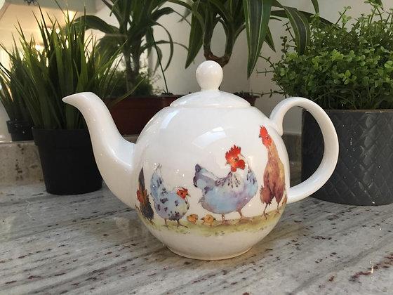 Pecking Order Teapot
