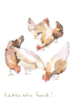 a bunch of hens